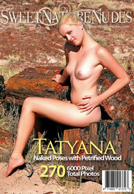 SweetNatureNudes.com Presents Naked Poses with Petrified Wood
