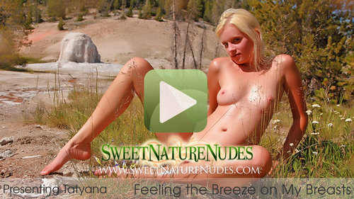 SweetNatureNudes.com Presents Feeling the Breeze on My Breasts