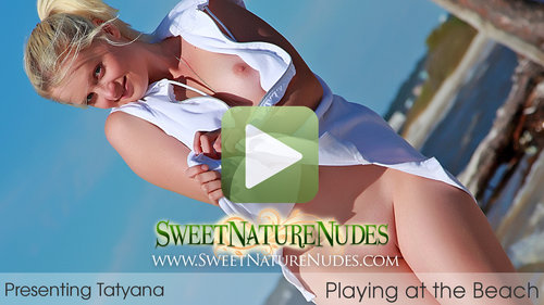 SweetNatureNudes.com Presents Playing at the Beach